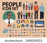 people icon set social media...