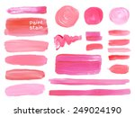 set of cosmetic texture round... | Shutterstock .eps vector #249024190