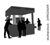 illustration of a kiosk sells... | Shutterstock .eps vector #249024649