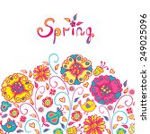 figure spring flowers  colorful ... | Shutterstock .eps vector #249025096