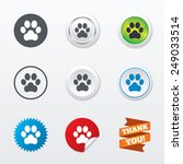 dog paw sign icon. pets symbol. ... | Shutterstock .eps vector #249033514
