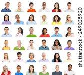 diverse diversity ethnic... | Shutterstock . vector #249035920