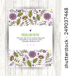 floral banner in vintage style. ... | Shutterstock .eps vector #249037468