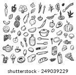 big hand drawn doodle healthy... | Shutterstock .eps vector #249039229