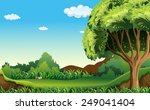 a green environment under the... | Shutterstock .eps vector #249041404