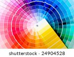 close up view of a color chart