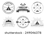 set of vintage summer camp... | Shutterstock .eps vector #249046378