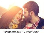 couple loving each other...   Shutterstock . vector #249049054