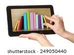 e learning concept.  digital...   Shutterstock . vector #249050440