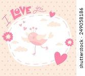 valentine day happy bird love card