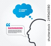 head with speech bubble. 8...   Shutterstock .eps vector #249060580