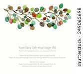 invitation. wedding or birthday ... | Shutterstock .eps vector #249062698