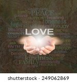 sharing love with you    female ... | Shutterstock . vector #249062869