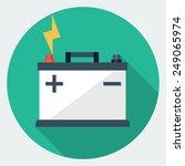 vector car battery icon | Shutterstock .eps vector #249065974