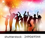 silhouettes of people dancing... | Shutterstock .eps vector #249069544