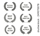 film awards. set of black and... | Shutterstock .eps vector #249070078