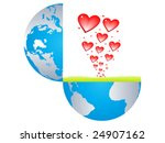 hearts bursting from the earth... | Shutterstock .eps vector #24907162