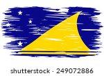flag of tokelau.  painted brush ... | Shutterstock .eps vector #249072886