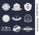 vector set of vintage hipster... | Shutterstock .eps vector #249078670