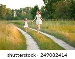 portrait of mother and daughter ... | Shutterstock . vector #249082414