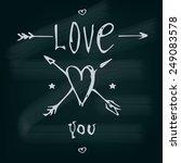 i love you  valentine's day... | Shutterstock .eps vector #249083578