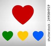vector heart icon | Shutterstock .eps vector #249084919