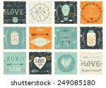 set of grunge valentine's day... | Shutterstock .eps vector #249085180