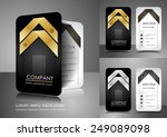 business card design with... | Shutterstock .eps vector #249089098