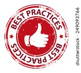 best practice with thumbs up... | Shutterstock .eps vector #249093766
