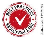 best practice with tick symbol...   Shutterstock .eps vector #249093769