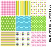 collection of nine multicolored ... | Shutterstock .eps vector #249095668