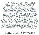 3d dark blue uppercase and... | Shutterstock . vector #249097390