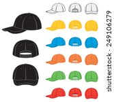 graphic baseball cap in a... | Shutterstock .eps vector #249106279