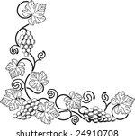 a grape vine corner background... | Shutterstock .eps vector #24910708