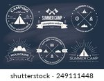 set of vintage summer camp... | Shutterstock .eps vector #249111448