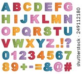 set of bright alphabet icons ... | Shutterstock .eps vector #249112180