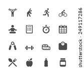 fitness icons | Shutterstock .eps vector #249117286