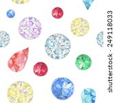 watercolor diamonds seamless... | Shutterstock .eps vector #249118033