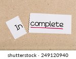 Two Pieces Of White Paper With...