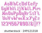 3d violet purple glossy... | Shutterstock . vector #249121318