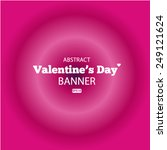 happy valentines day card... | Shutterstock .eps vector #249121624