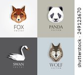 trendy low polygon style animal ... | Shutterstock .eps vector #249123670