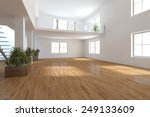 White Empty Modern Interior...