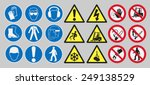 work safety signs | Shutterstock .eps vector #249138529