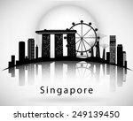 modern singapore city skyline...   Shutterstock .eps vector #249139450