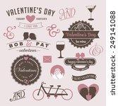 vintage valentine's day design... | Shutterstock . vector #249141088