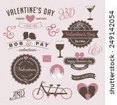 vintage valentine's day design... | Shutterstock .eps vector #249142054