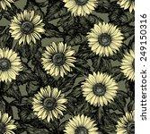 vintage floral backgrounds.... | Shutterstock .eps vector #249150316