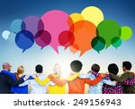 casual people message talking... | Shutterstock . vector #249156943