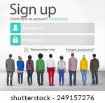 sign up register online...   Shutterstock . vector #249157276